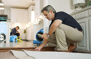 Restoration services include flooring repair and replacement.